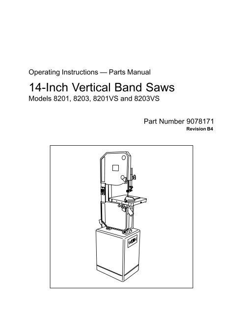 14-Inch Vertical Band Saws - Enco