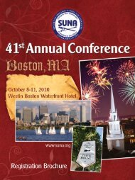 SUNA 41st Annual Conference Brochure