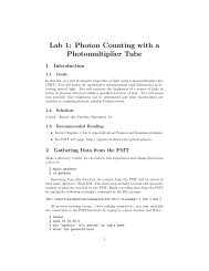 Lab 1: Photon Counting with a Photomultiplier Tube - UGAstro