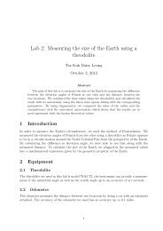 Lab 2: Measuring the size of the Earth using a theodolite - UGAstro