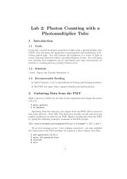 Photomultiplier Tube Lab Instructions - UGAstro