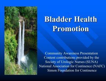 Bladder Health Promotion - SUNA