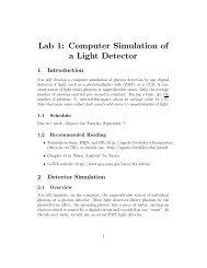 Lab 1: Computer Simulation of a Light Detector - UGAstro
