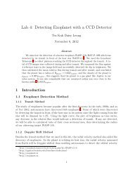 Lab 4: Detecting Exoplanet with a CCD Detector - UGAstro