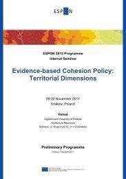 Download ESPON Seminar programme - ET2050 Activities