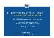 EU Cohesion Policy2014 – 2020