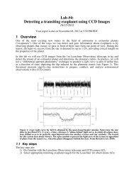 Lab 4 Instructions - UGAstro