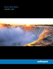 RETAIL PRICE BOOK - Audio Sensibility