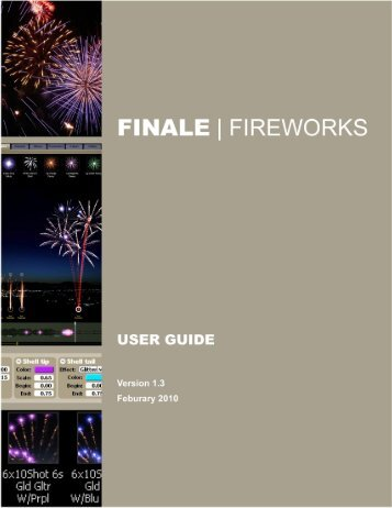 FINALE Fireworks User Guide