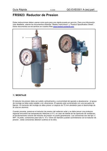 FRS923 Reductor de Presion - FOXBORO ECKARDT