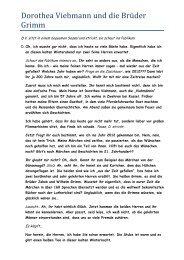 Dorothea Viehmann und die Brüder Grimm - Brueder Grimm Schule