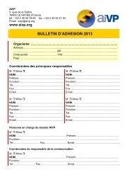 Formulaire d'adhésion 2013 (pdf) - AIVP