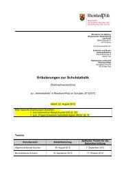 Erläuterungen zur Schulstatistik - BBS-Schulstatistik