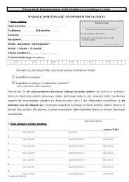 wniosek o przyznanie stypendium socjalnego - Wyższa Szkoła ...