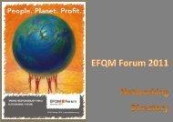 Forum 2011 Networking Directory - EFQM