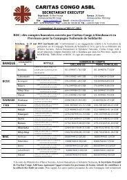 Communiqué de presse n°003-CC-2013 sur les comptes ... - Caritas