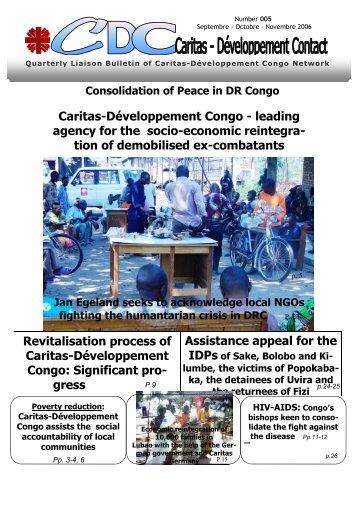 Bulletin de liaison n°005 - english version - Caritas Congo