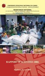 rapport d'activites 2006 - caritasdev.cd