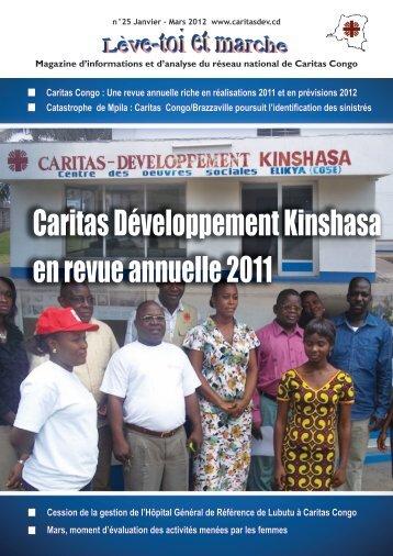 Caritas Développement Kinshasa en revue annuelle ... - caritasdev.cd