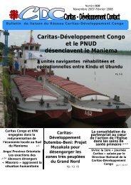 Bulletin de liaison de Caritas-Dév Congo n°010 - caritasdev.cd