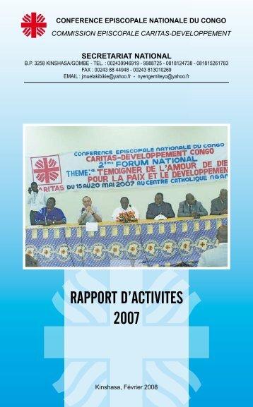 RAPPORT D'ACTIVITES 2007 - Caritas