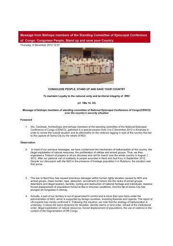 standing committe - Caritas Congo
