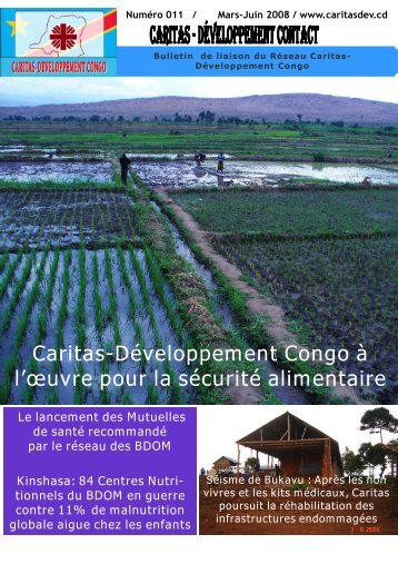 Bulletin de liaison de Caritas-Dév Congo n°011 - caritasdev.cd