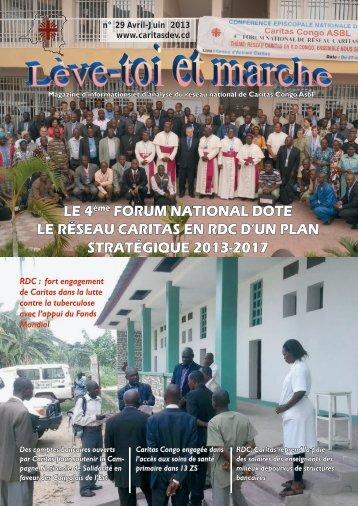 LE 4ème FORUM NATIONAL DOTE LE RÉSEAU ... - caritasdev.cd