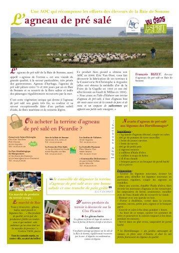 agneau de pré salé - Comité Régional Tourisme de Picardie