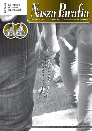 Numer 8/2012 z 28 października 2012 - Nasza Parafia - Salwatorianie