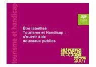 tourism e et handicap - Comité Régional Tourisme de Picardie
