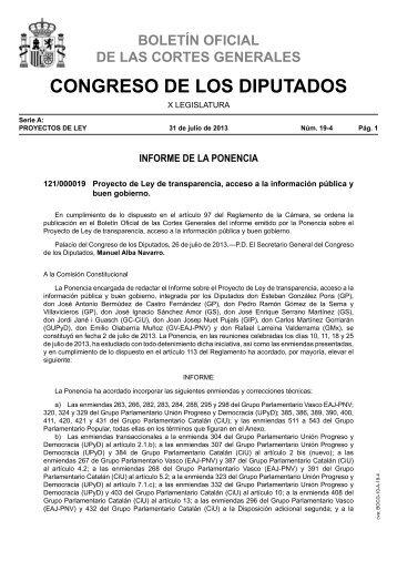 Ley de transparencia - Congreso de los Diputados
