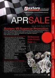 Baxters V8 Supercar Promotion