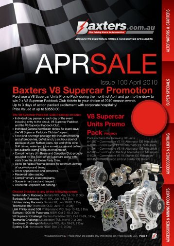 Baxters V8 Supercar Promotion