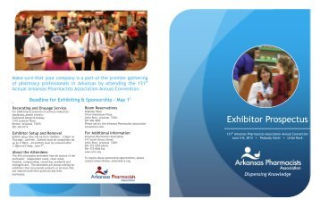 Exhibitor Prospectus - Arkansas Pharmacists Association