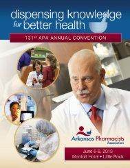 2013 APA Annual Convention Brochure - Arkansas Pharmacists ...