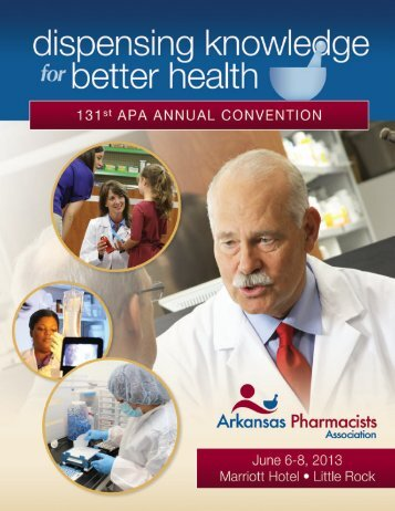 2013 APA Annual Convention Brochure - Arkansas Pharmacists ...