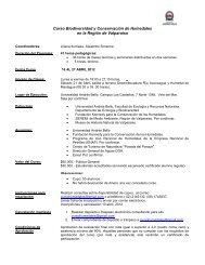 Curso de Biodiversidad y Conservación de Humedales desde el 16 ...