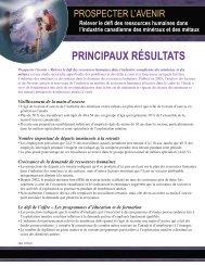 Principaux résultats - MiHR