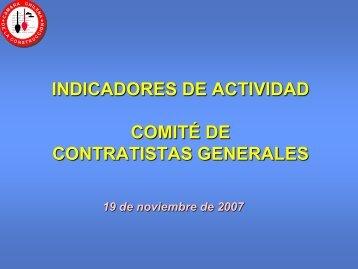 indicador de actividad comité contratistas generales - Biblioteca