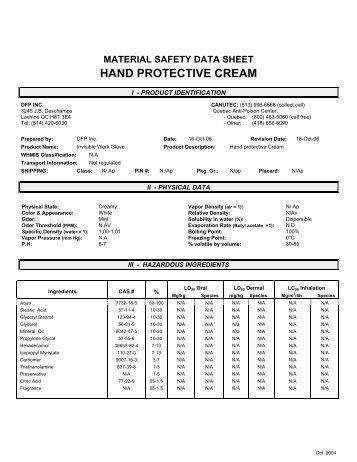 HAND PROTECTIVE CREAM