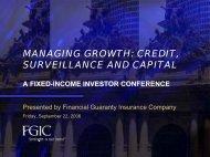 managing growth - Financial Guaranty Insurance Company