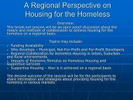 A Regional Perspective on Housing for the Homeless - Colorado ...