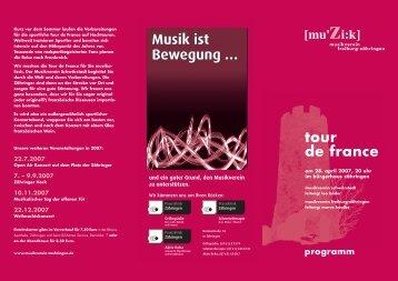 Frühjahrskonzert 2007: tour de france - Musikverein Freiburg ...