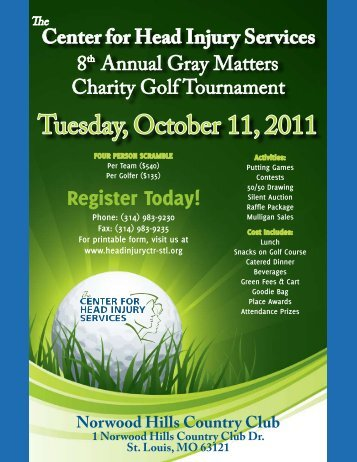 Tuesday, October 11, 2011 - The Center for Head Injury Services