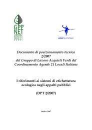 Documento di posizio.. - Coordinamento Agende 21 Locali Italiane