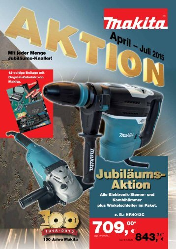 Makita Aktion April - Juli 2015