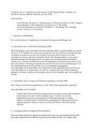 verslag 17e bestuursvergadering 9 juli 2009.pdf - De Haagse Scholen