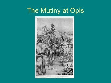 The Mutiny at Opis