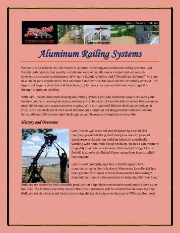 Aluminum Railing Systems